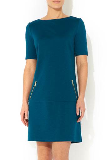 Teal Drop Waist Ponte Dress     Was £35.00     Now £28.00 click to visit Wallis