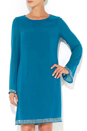 Teal Hotfix Detail Tunic     Was £45.00     Now £36.00 click to visit Wallis
