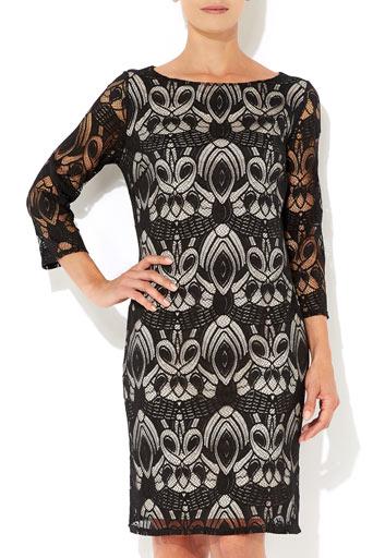 Black Art Deco Lace Dress     Was £45.00     Now £36.00 click to visit Wallis