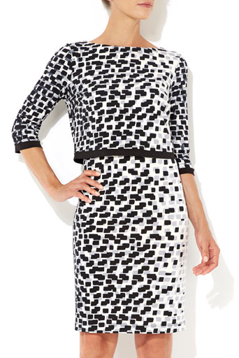 Geo Print Over Layer Dress     Was £45.00     Now £36.00 click to visit Wallis