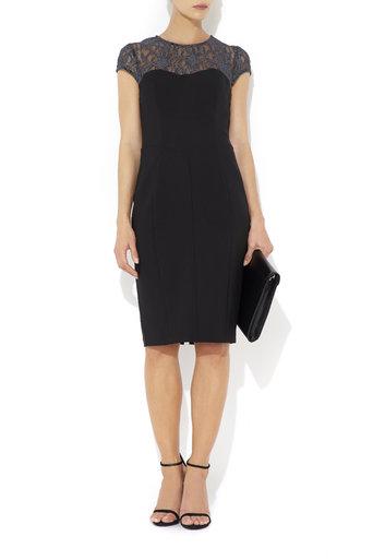 Silver Lace Top Black Dress     Price: £60.00 click to visit Wallis