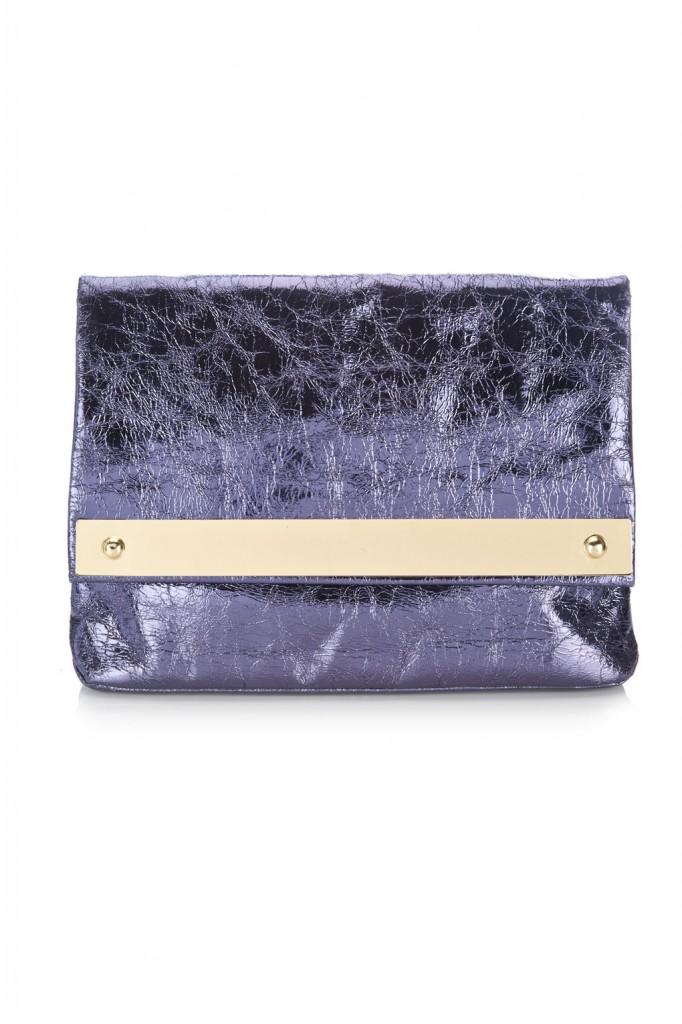 Purple Metallic Clutch Bag     Price: £30.00 click to visit Wallis
