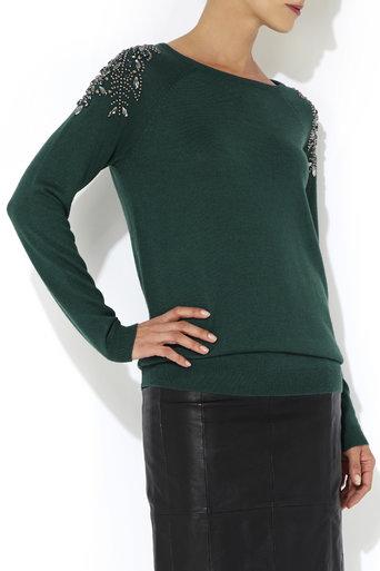 Green Gem Shoulder Jumper     Price: £50.00 click to visit Wallis