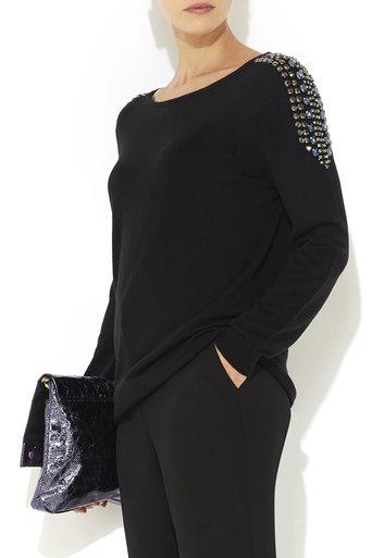 Black Jewel Embellished Jumper     Price: £50.00 click to visit Wallis