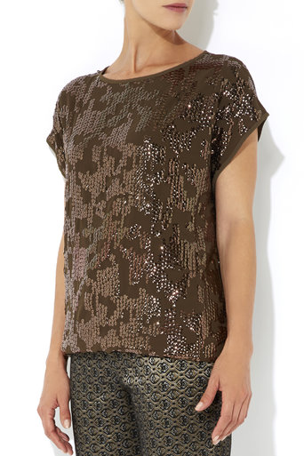 Bronze Sequin Top     Price: £40.00 click to visit Wallis