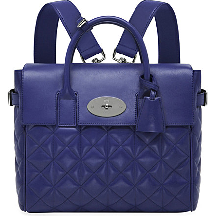 MULBERRY Cara quilted nappa-leather backpack (Indigo Hover image to zoom More views     MULBERRY Cara quilted nappa-leather backpack     MULBERRY Cara quilted nappa-leather backpack     MULBERRY Cara quilted nappa-leather backpack     MULBERRY Cara quilted nappa-leather backpack MULBERRY Cara quilted nappa-leather backpack £1,200 click to visit Selfridges