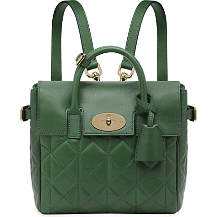 MULBERRY Mini Cara quilted nappa-leather backpack £995 click to visit Selfridges