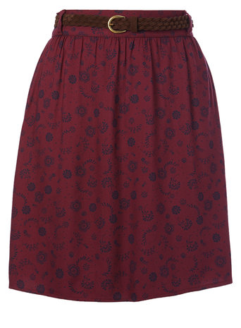 Purple Printed Belted Skirt     Price: £18.00 click to visit BHS