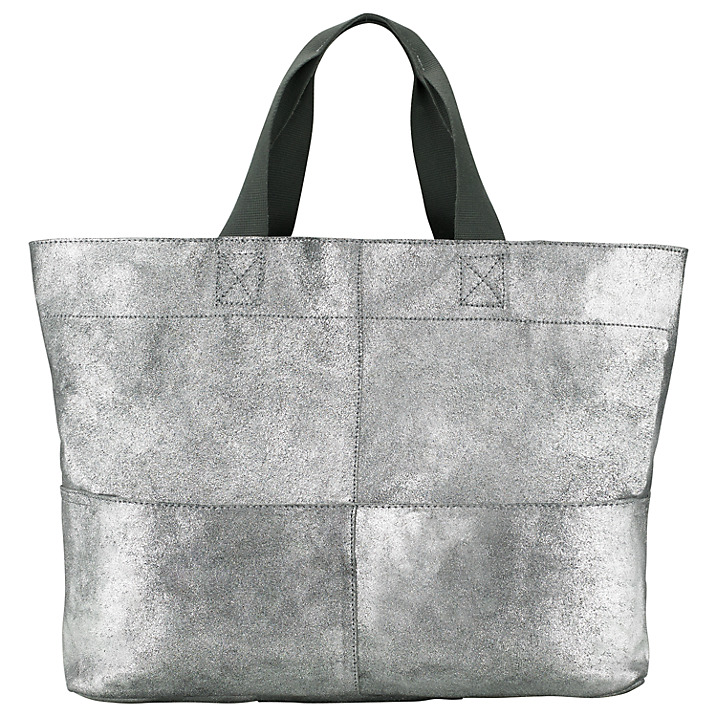 Kin by John Lewis Bronte Distressed Leather Tote Bag, Silver £99 click to visit John Lewis