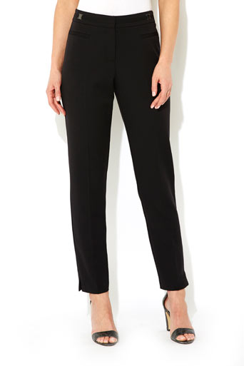 Tab Detail Slim Flood Trouser     Was £33.00     Now £23.10 click to visit Wallis