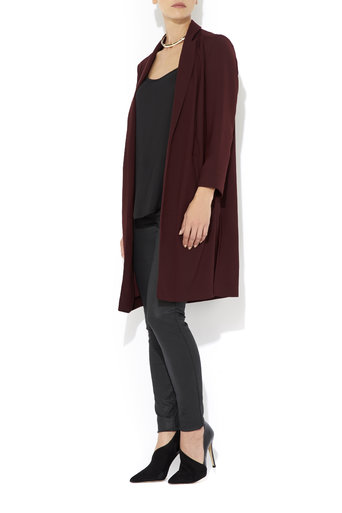 Berry Satin Back Duster Coat     Price: £70.00 click to visit Wallis