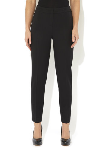 Black Zip Slim Leg Trouser     Was £33.00     Now £23.10 click to visit Wallis