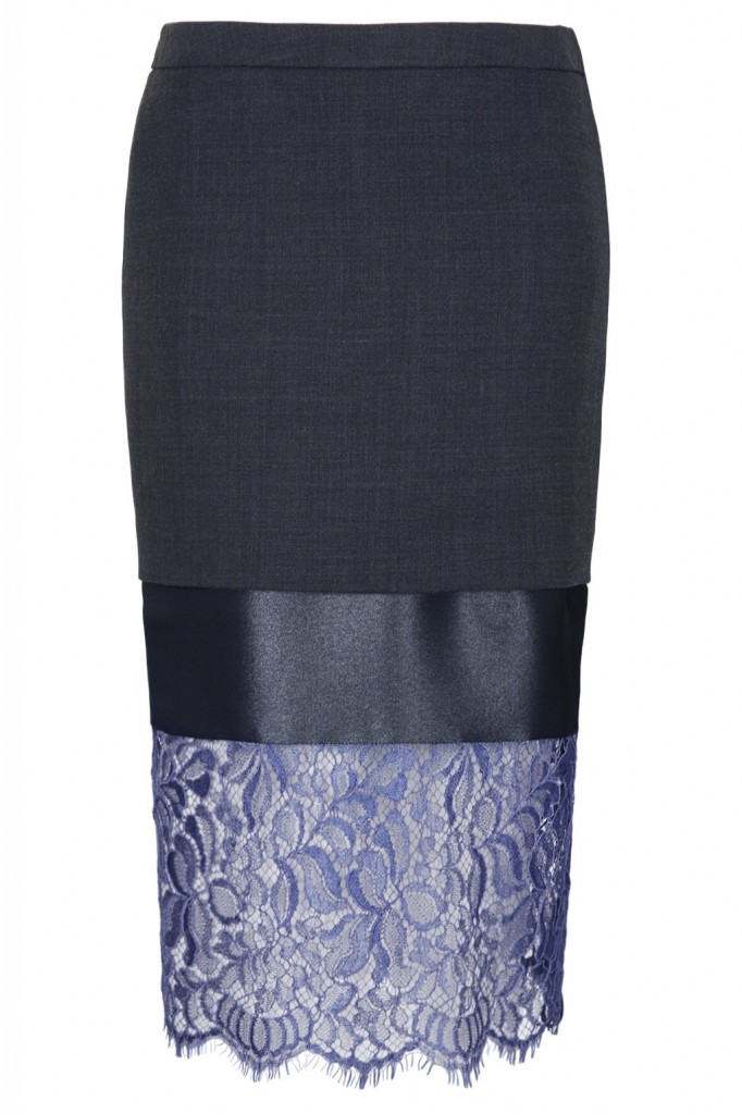 **Lace Hem Midi Pencil Skirt by Unique     Price: £155.00 click to visit Topshop