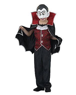 Dracula Fancy Dress Costume from £10.00 click to visit Asda