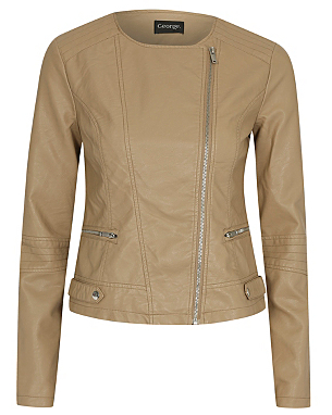 Leather Look Jacket £28.00 click to visit Asda George