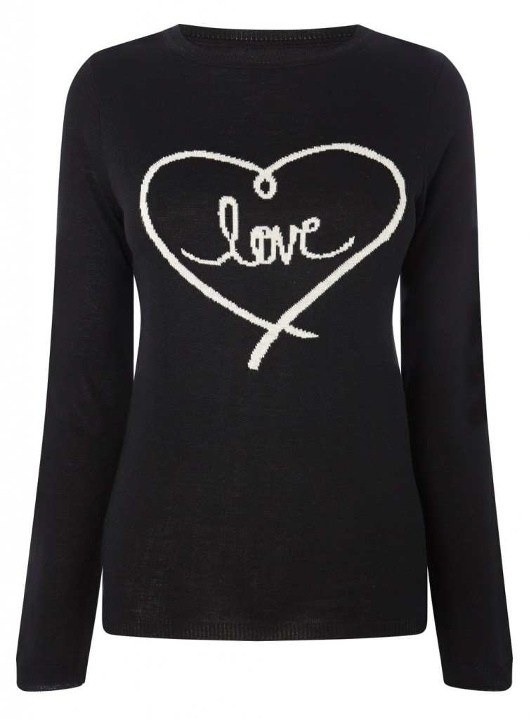 Black Heart Jumper     Price: £25.00 click to visit BHS