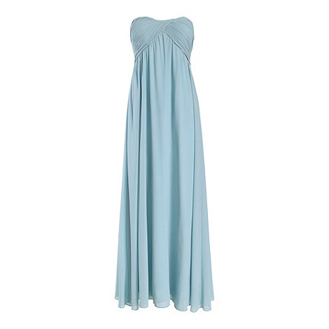 Alice & You Light blue ruched bandeau maxi dress  £39 click to visit Debenhams