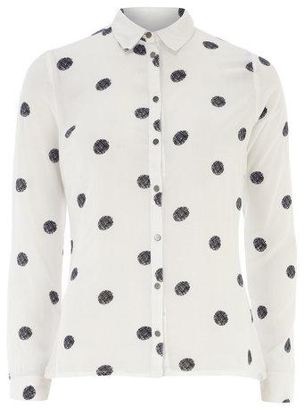 Black and white polka dot shirt     Price: £22.00 click to visit Dorothy Perkins