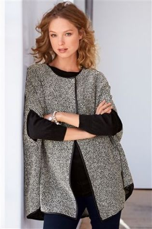 Knit Look Cape £38 click to visit Next