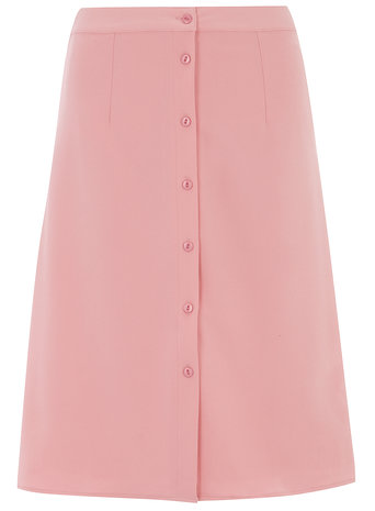 Alice & you Light Pink Button Midi Skirt     Price: £32.00 click to visit Dorothy Perkins