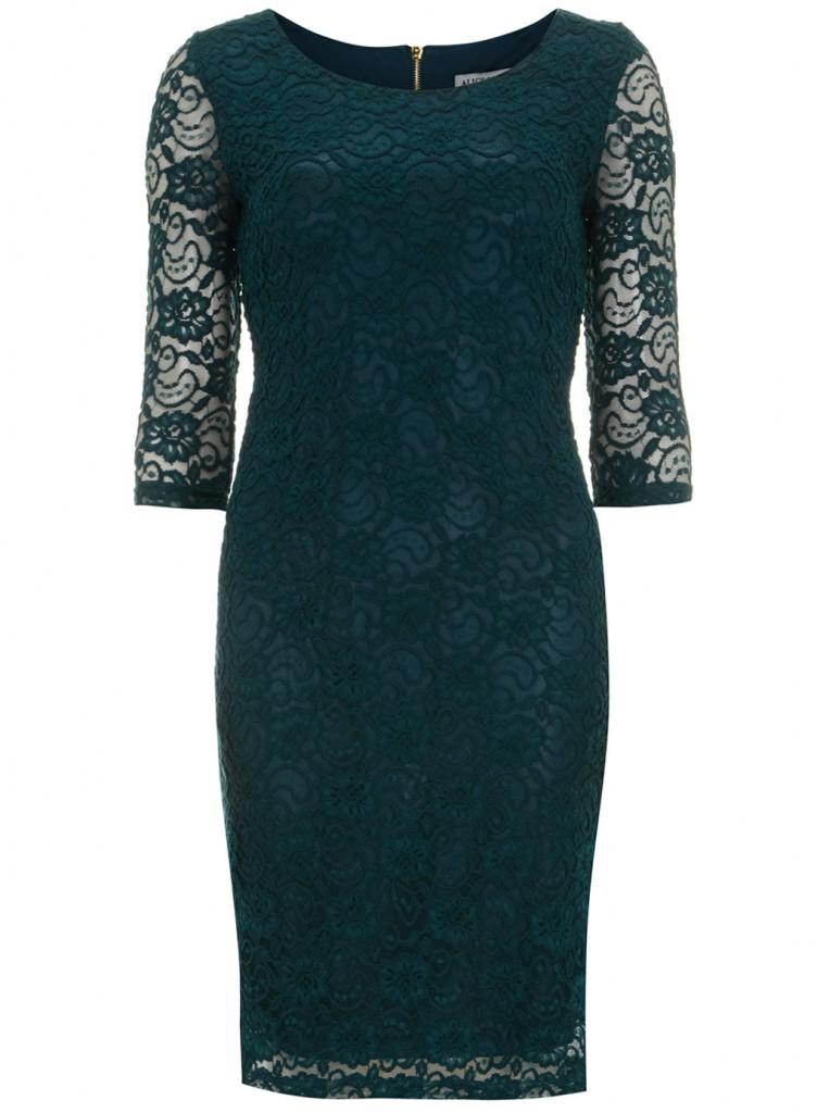 Alice & you Dark Green Midi Lace Dress     Price: £26.00 click to visit Dorothy Perkins