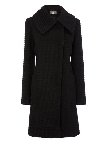 Black Textured Coat     Price: £50.00 click to visit BHS