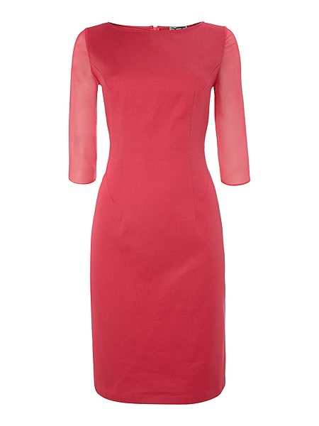 Kilian Kerner Senses Sheer sleeve pique shift dress £44 click to visit House of Fraser