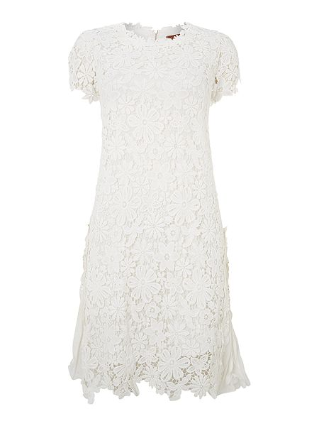 Jolie Moi Crochet lace swing dress now £74.99 click to visit House of Fraser