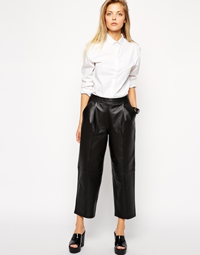 ASOS Premium Leather Mansy Trousers £100.00 click to visit ASOS