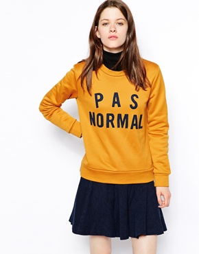 Wood Wood Maya Sweatshirt with P a s Normal Patched Design £135.00 Click to visit ASOS