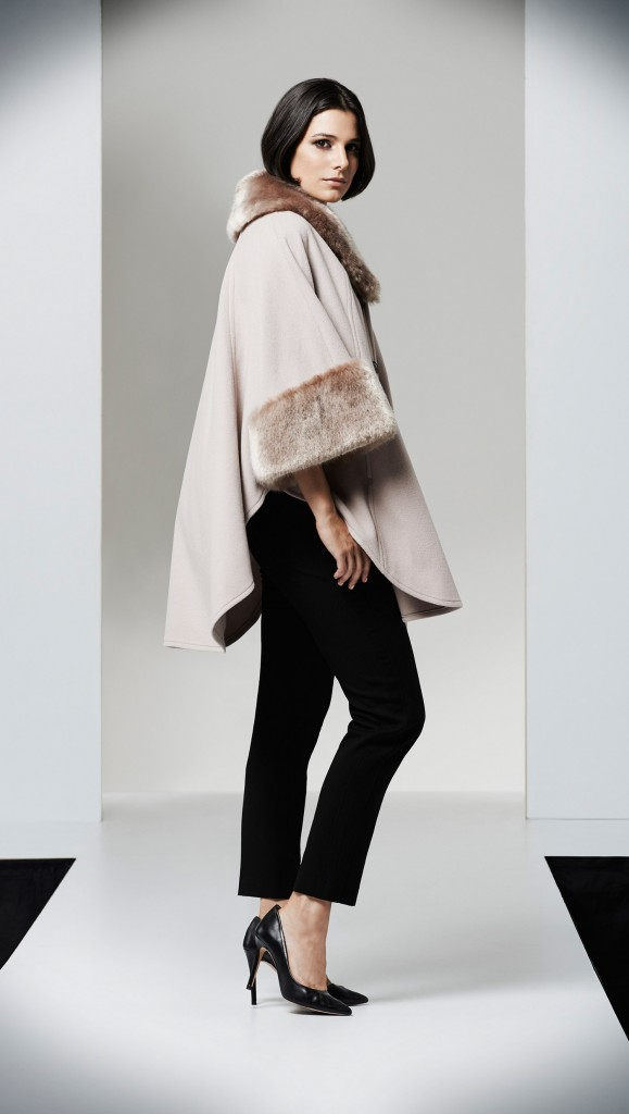 Palomino Fur Trim Cape NOW £199.20  click to visit Jacques Vert