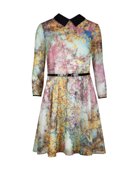 EPONI Pretty trees print dress     £149 click to visit Ted Baker