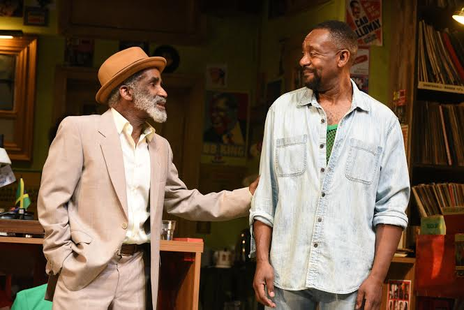 Larrington Walker as Rudy and Lenny Henry as Adam Photo Credit Robert Day