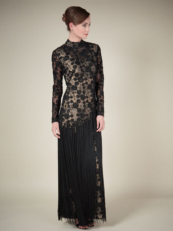 Black Beaded Fringe Gown Item No. 010036023 £499.00 click to visit Jacques Vert