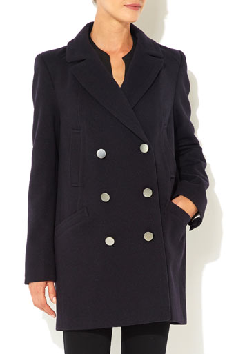 Ink Twill Reefer Coat Was £70.00 Now £56.00 click to visit Wallis