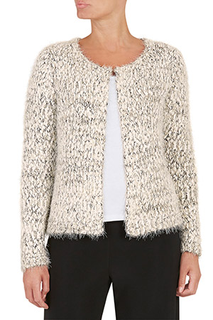 David Emanuel Textured Yarn Cardigan With Metallic Trim £26.00 click to visit Bon Marche