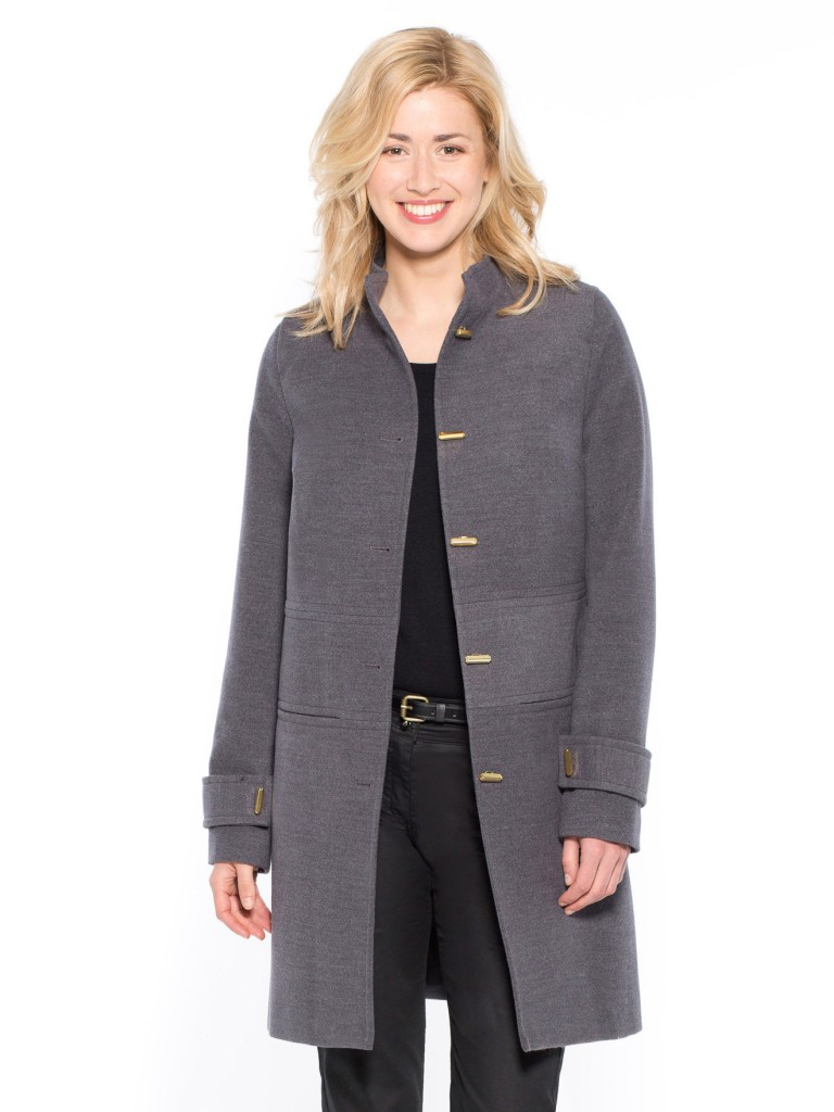 Plain Straight Cut Coat with Stand-Up Collar £89 click to visit Daxon