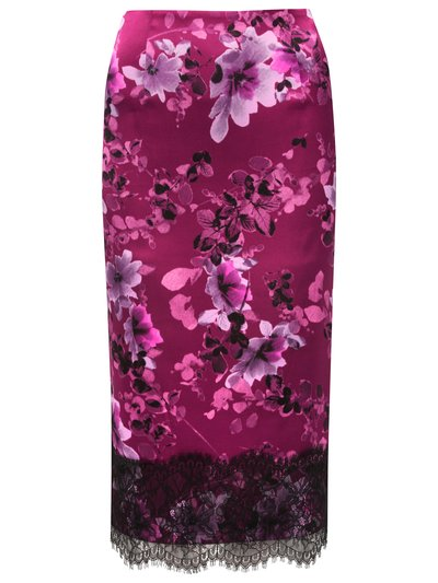 Lace trim floral pencil skirt £39 click to visit M&Co