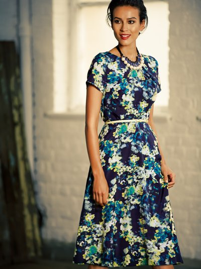 Floral print belted tea dress £45 click to visit M&Co