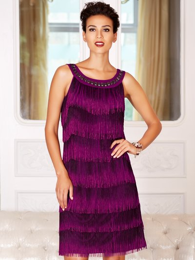 Fringed flapper dress £89 click to visit M&Co