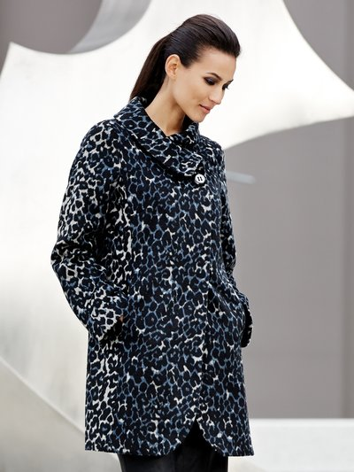Leopard print wool blend coat £75 click to visit M&Co
