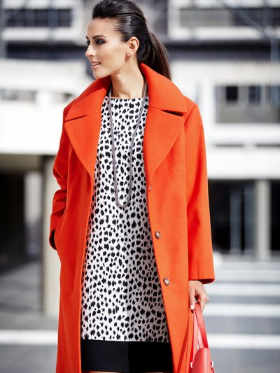 Orange single breasted coat £39 click to visit M&Co