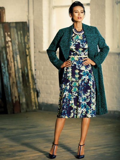 Teal boucle coat £79 click to visit M&Co