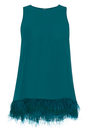 LILI FEATHER TOP £85.00 click to visit Coast