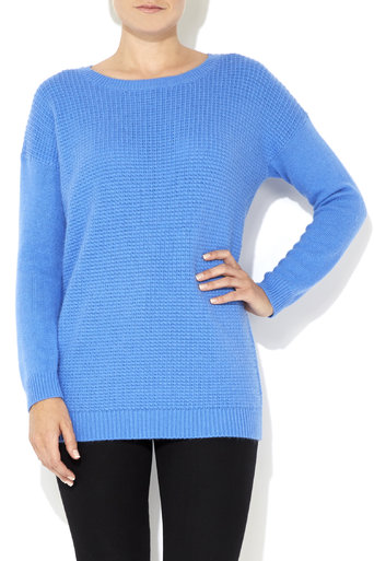 Blue Soft Stitched Jumper Was £35.00 Now £28.00 click to visit Wallis