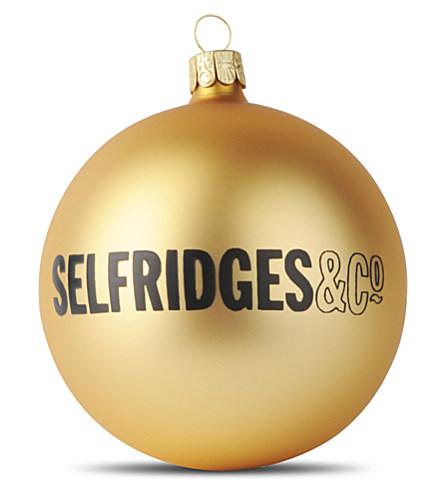 SELFRIDGES Selfridges bauble £5.95 click to visit Selfridges