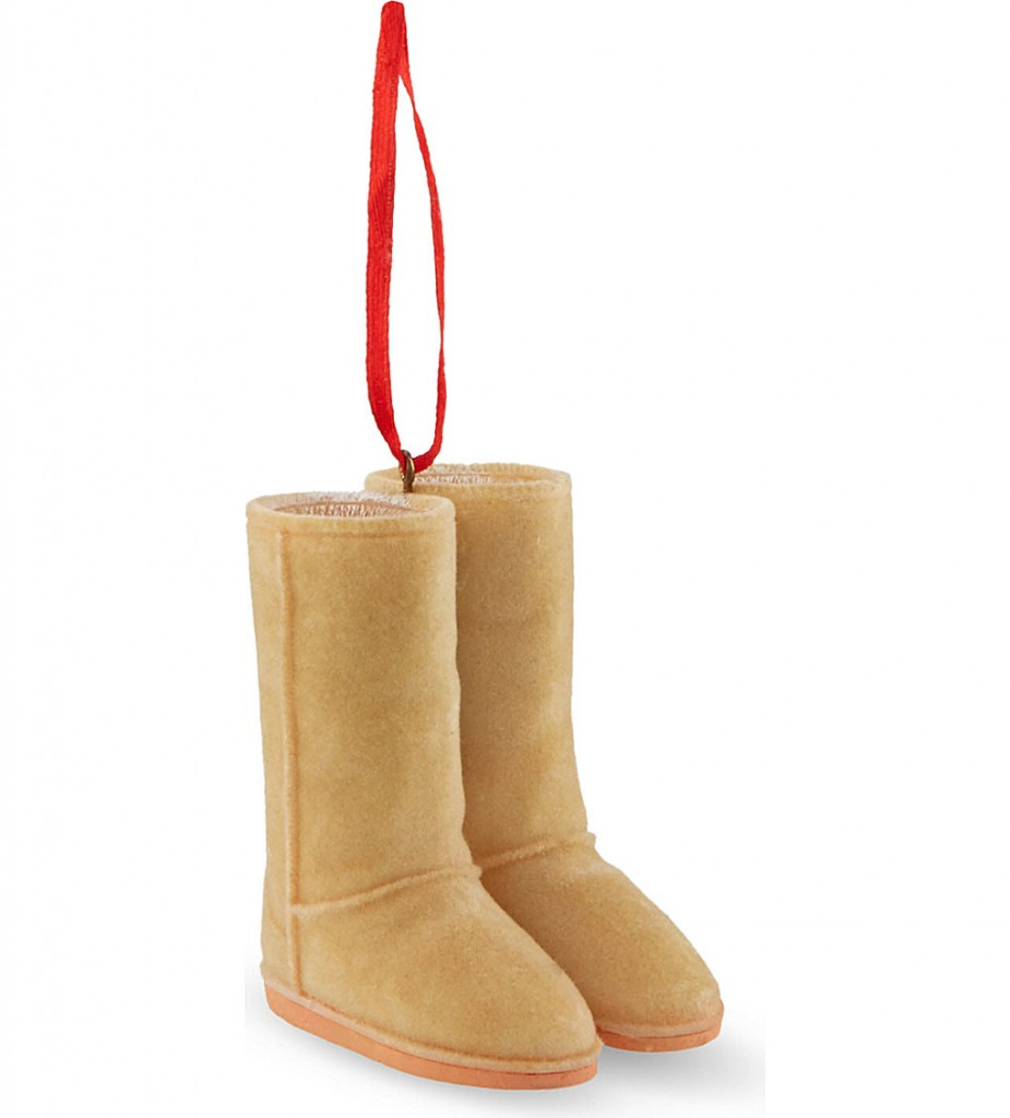 KURT ADLER Resin boots bauble 7cm £10.05 click to visit Selfridges