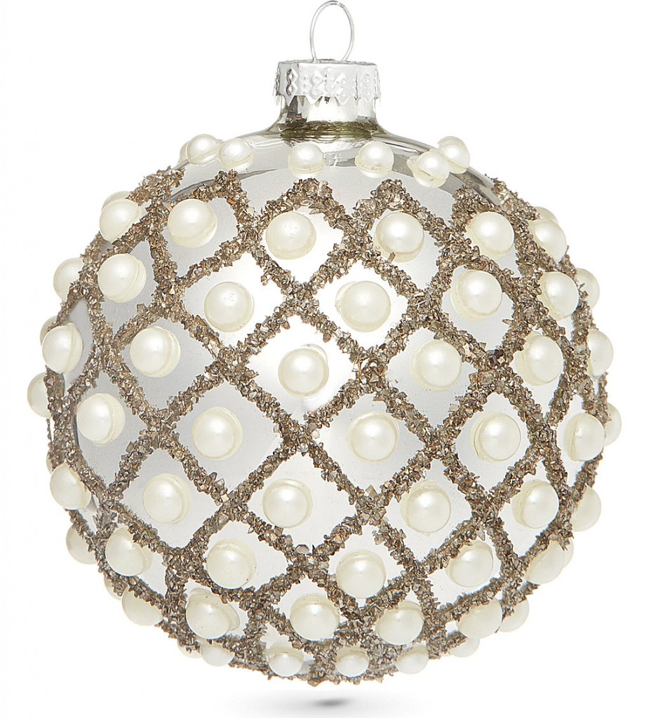 COACH HOUSE Pearl encrusted bauble 10cmm £6.95