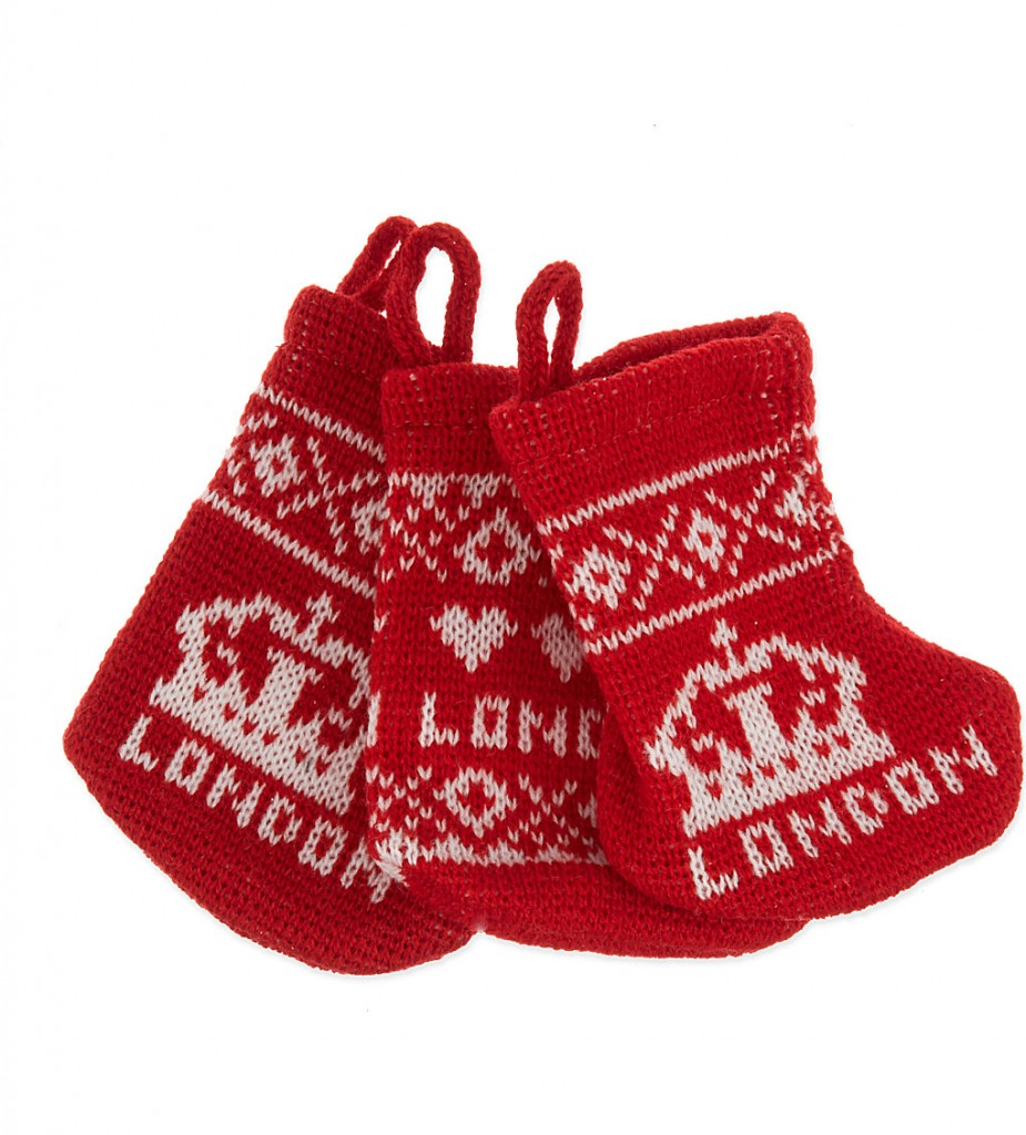 ELGATE London knitted mini stockings set of three £5.95 click to visit Selfridges