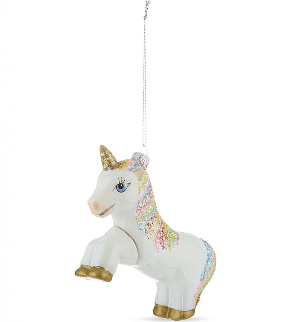 KREBS GLAS LAUSCHA Unicorn tree decoration £16.95 click to visit Selfridges